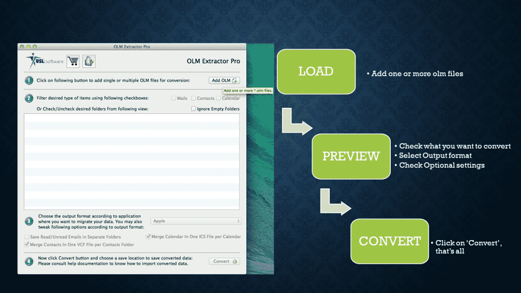 converting olm file into mac mail