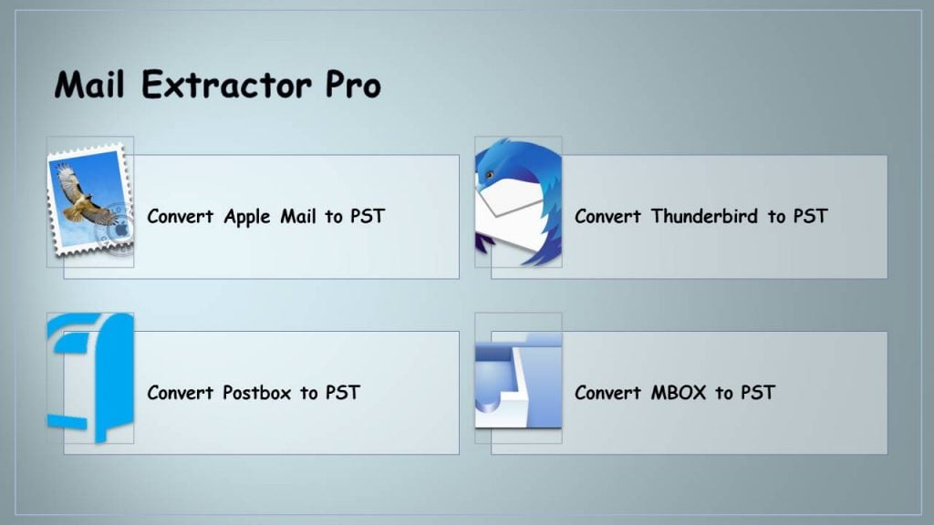 Export Apple Mail MBOX to PST