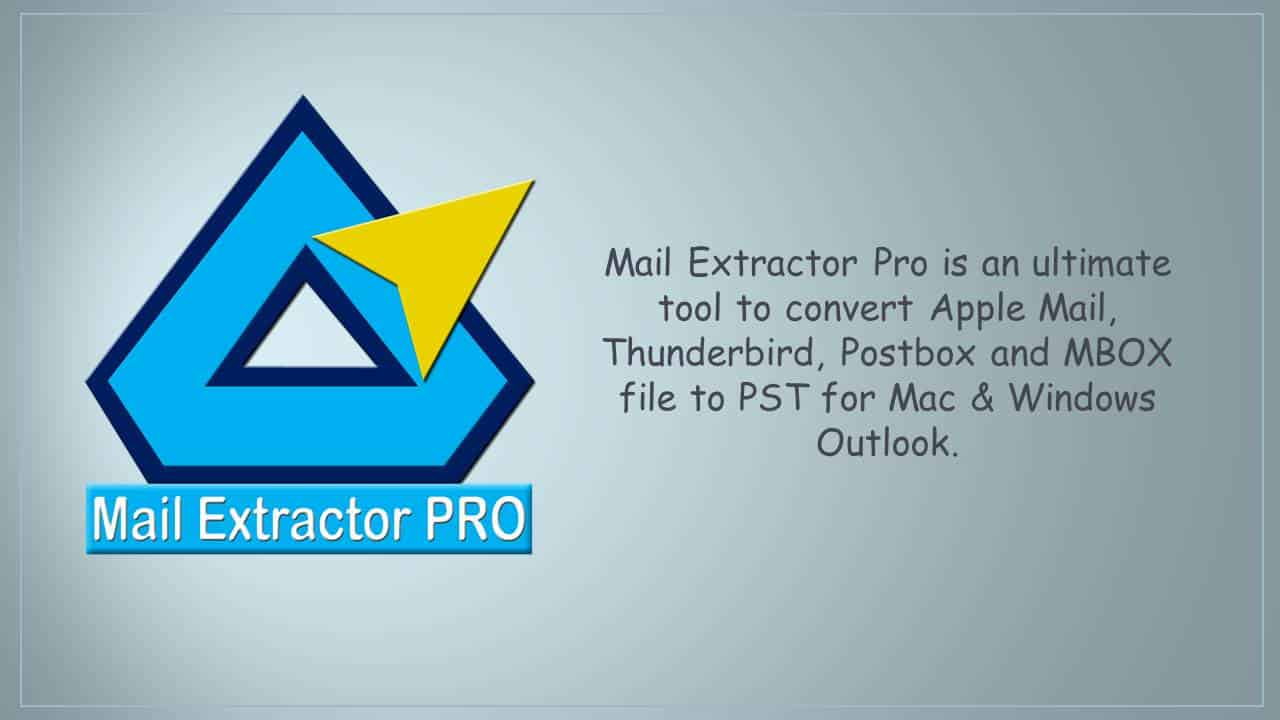 Export Apple Mail MBOX to PST for Mac/Win Outlook - Mac Software Hub